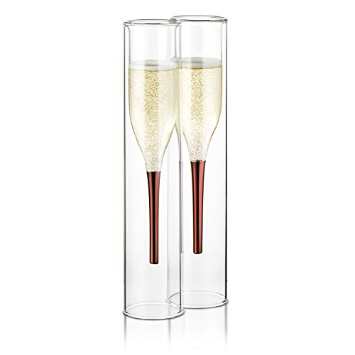 Inside Out Champagne Flutes (Copper Champagne Flutes)