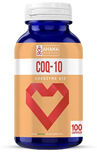 10 300 Capsules Mg (Ahana Nutrition COQ10 for Cardiovascular Support and Energy (10mg – 100 Capsules))