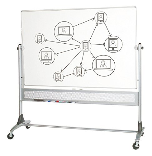 Platinum Mobile Reversible Whiteboard Easel, (669RF-DD) 4' x 5' Panel Size by Best-Rite