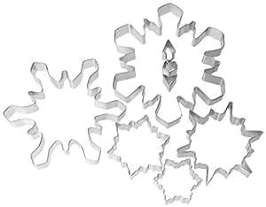 R & M 1989-02 8-Piece Snowflake Cookie Cutter Set, Tin