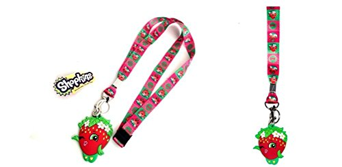Shopkins Strawberry Lanyard keychain Holder with Strawberry - Shortcake Strawberry Keychains