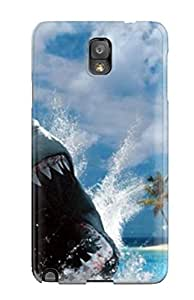 Premium Galaxy Note 3 Case - Protective Skin - High Quality For Shark Action Shot