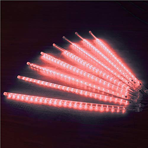 Roytong Waterproof Cascading LED Meteor Shower Rain Lights Outdoor for Holiday Party Wedding Christmas Tree Party Tree Decoration Birthday Gift (Red, 19.7) (Cascading Christmas Tree)