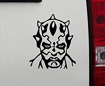 "5/"" Darth Vader Vinyl Decal Star Wars Villain Skywalker Car Window Sticker JDM"
