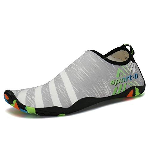 Grey Women Men Quick Shoes Aerobics Child Summer Pool Water Yoga Swim Bigcount Slippers Unisex Drying Beach 7wqZOp