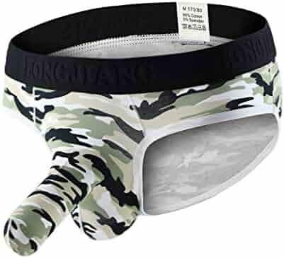 a2f19c24dbc9 Mens Underwear Camouflage Elephant Bulge Boxer Briefs Pouch T Lingerie  Shorts Underpants Zulmaliu