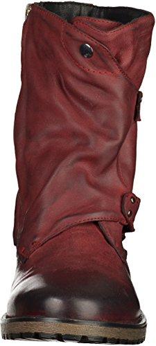 SPM Shinola Damen Biker Boots Dunkelrot