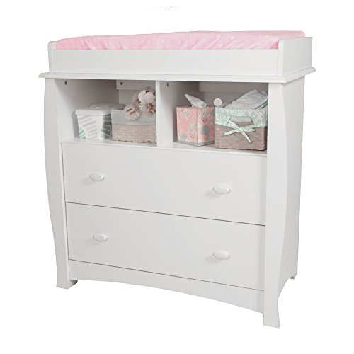 South Shore Beehive Changing Table with Removable Changing Station, Pure White by South Shore