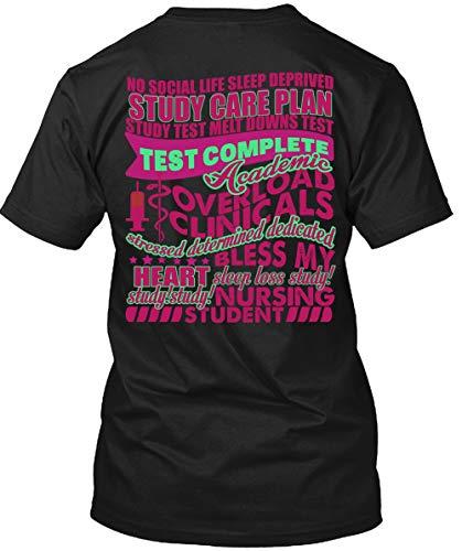 (No Social Life Sleep Deprived Study Care Plan T Shirt, Nursing Student T Shirt Unisex)