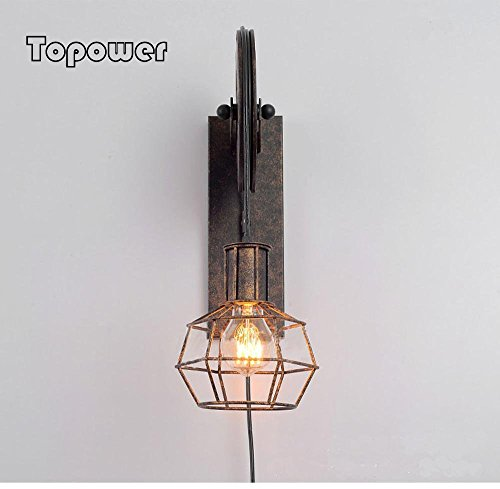 European style ancient industrial waterproof ironwork wall lamp by Topower