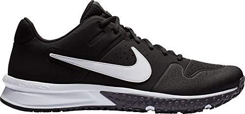 Nike Men's Alpha Huarache Varsity Turf Shoe Black/White/Thunder Grey Size 9 M US