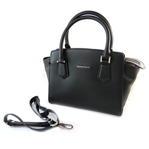 Gianni Conti [N6113] - Sac cuir 'Gianni Conti' noir - 33x26. 5x16 cm