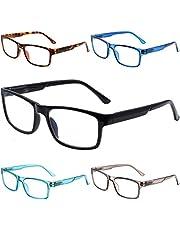 5-Pack Reading Glasses Blue Light Blocking,Computer Glasses for Women Men, Anti Eyestrain UV400 Anti Glare Filter Eyeglasses