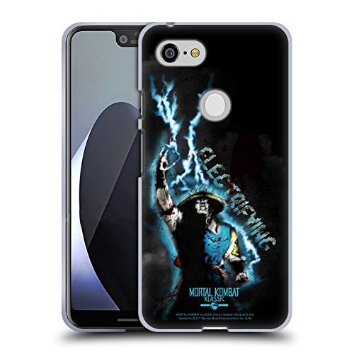 Official Mortal Kombat Klassic Raiden Electrifying Character Art Soft Gel Case Compatible for Google Pixel 3 XL