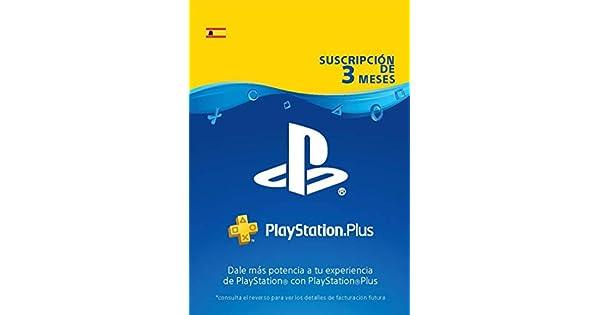 PlayStation Plus Suscripción 3 Meses | Código de descarga PSN - Cuenta española: Amazon.es: Videojuegos