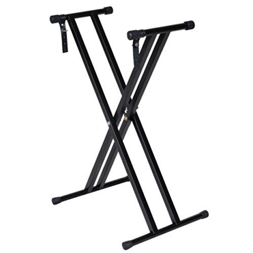 Adjustable Stand Keyboard Desk Double Holder Heavy Braced X-Style Electronic Piano Stand by Brother123shop