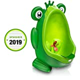 Frog Potty Training Urinal for Boys Toilet with Funny Aiming Target - Green: more info