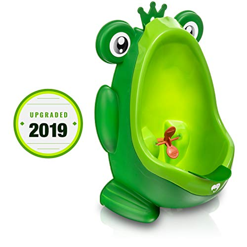 Frog Potty Training Urinal for Boys Toilet with Funny Aiming Target - Green (Not Wanting To Get Out Of Bed)