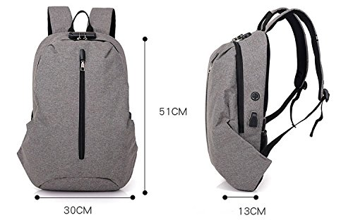 Theft Lock Backpack USB Men Men School Code Designer Anti Bags black Chun NEW Backpack UYH1nxqI