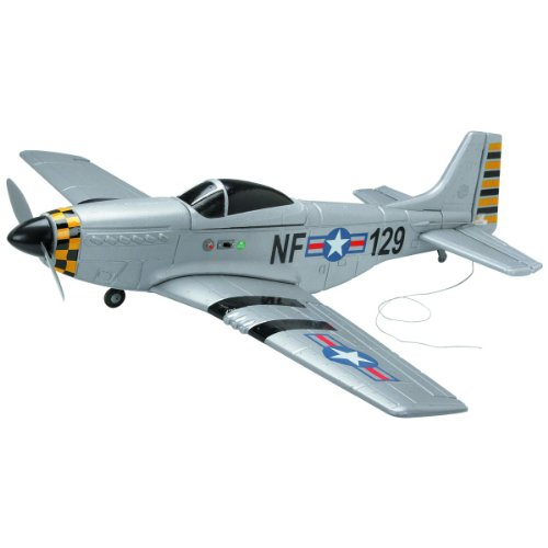 - 4 Channel Radio Controlled P51 Mustang Airplane PRE-BUILT with Wingspan 27 Inch