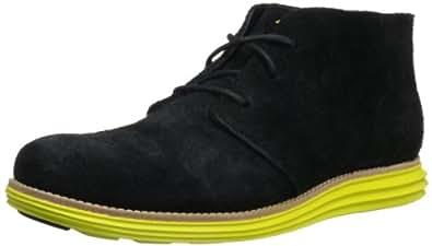 Cole Haan Men's Lunargrand Chukka BootBlack Suede/Volt9.5 M US