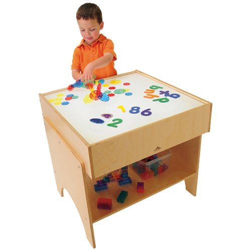Child-Size LED Light Table with Storage