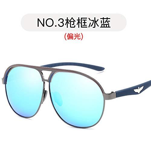 Gafas Espejuelos Azul Moda de de Pistola Marco blue metálicas Sol Hielo Estilo Hombres polarizadas polarizadas Sol de Aviador Burenqiq Gafas de Gun de Sol para ice frame Gafas qwBAIzBf