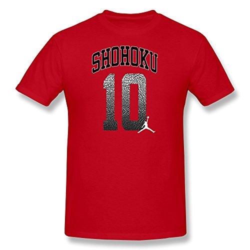 AnneLano Men's Shohoku 10 T-shirt Small Red