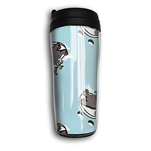 Bear Like Ice-cream Unisex Car Travel Coffee Mug Cup Curved Outer Layer Travel Tumbler Mug-350ml Patterned Travel Mug Works Great For Ice Drink,Hot Beverage Carrier Gift For Kids Men Women