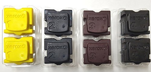 - Genuine Xerox 8570 8580 Solid Ink 2 pcs each per Color (8 pcs / pack)