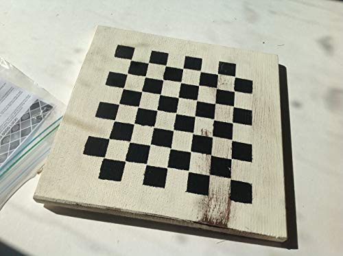 Handcrafted Rustic Wood Checker Board with plastic checkers and instructions