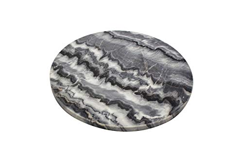 Amber Home Goods Genuine Marble Stone Cheese/Cutting Board Crafted Of Genuine Marble Design Of Superb Piece Of Durability And Refinement Safe on Counter Tops Easy to Clean Stays Cool 12
