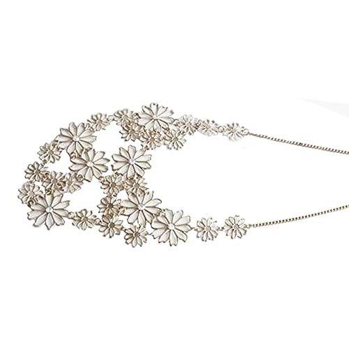 Sweater Women Chain Flower Choker Lady Camellia Jewelry Necklace Pendant