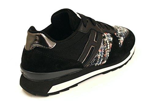 Hogan Rebel Sneakers Donna HXW2610Q9019M90BZ1 Camoscio Nero