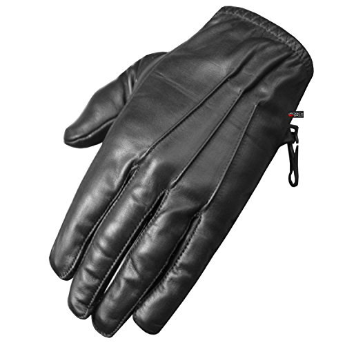 Premium Leather Police Driving Tactical Duty Thin Unlined Search Gloves Black S by Jackets 4 Bikes