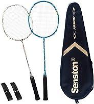 Senston - High Grade 100% Full Carbon Fiber Badminton Racket Set - Including 1 Badminton Bag/2 Rackets/2 Grips