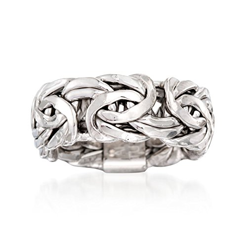 Ross-Simons Sterling Silver Large Byzantine Ring ()