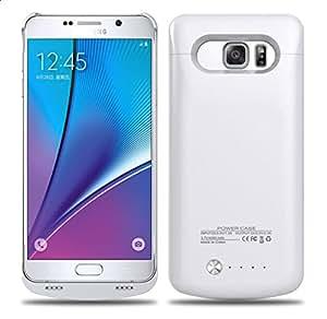 Vanda® Carcasa Funda Con Bateria integrada Samsung Galaxy note 5 N9200 Externa auxiliar Cargador -Blanco