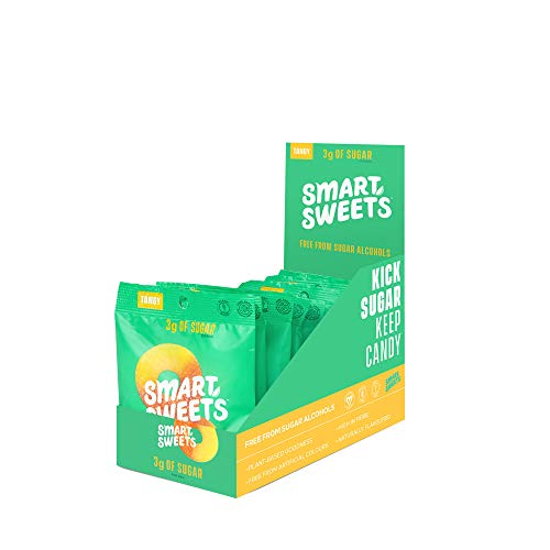 SmartSweets Peach Rings 1.8 oz bags (box of 12), Candy with Low-Sugar (3g) & Low Calorie (80)- Free of Sugar Alcohols & No Artificial Sweeteners, Sweetened with ()