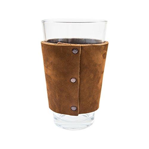 Leather Pint Sleeve Handmade by Hide & Drink :: Swayze Suede
