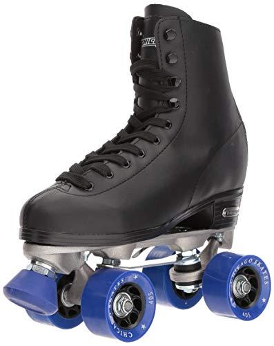 Hockey Skates Chicago - Chicago Men's Classic Roller Skates -Black Rink Quad Skates Size 13 (Renewed)