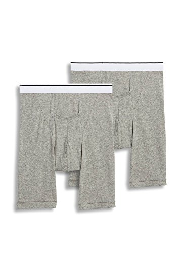 Jockey Men's Underwear Pouch Midway Brief - 2 Pack, Grey Heather, 2XL