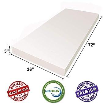 Image of AK TRADING CO. White Upholstery Sheet Foam Padding CertiPUR-US Certified (Seat Replacement, Foam Cushion, Upholstery Sheet) - (5' H X 36' W X 72' L) Home and Kitchen