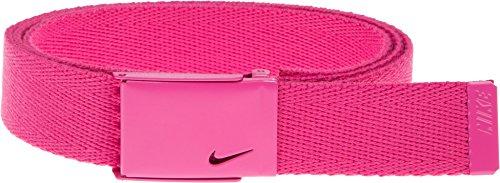 Nike Women's Tech Essentials Single Web Belt, Hot Pink, One (Hot Pink Golf)