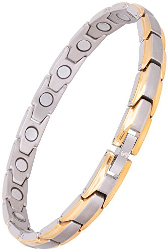 (Elegant Womens Titanium Magnetic Therapy Bracelet Pain Relief for Arthritis and Carpal Tunnel)