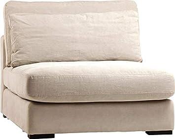 Amazon.com: Sofa Dovetail Hughes Center Birchwood Legs Linen ...