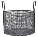 "12""Dia x 8""H Round Black Plastic Coated Plain Steel Mesh Basket"