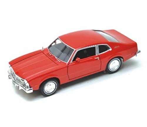 Motormax 1974 Ford Maverick 1/24 Scale Pre-Built Diecast Model Car Red -  73326R