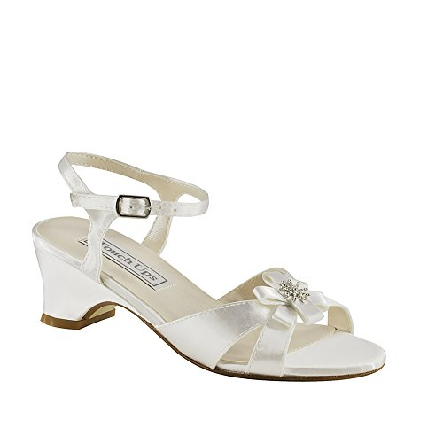 TOUCH UPS BY BENJAMIN WALK Kids' Tina Sandal Toddler/Pre/Grade School (White 8.5 M) by Touch Ups