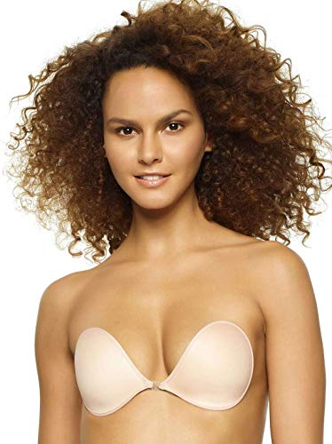 - Felina Ladies' Gel Adhesive, Backless Strapless Wire Free Bra, Reusable up to 20 Times (Ivory, A)